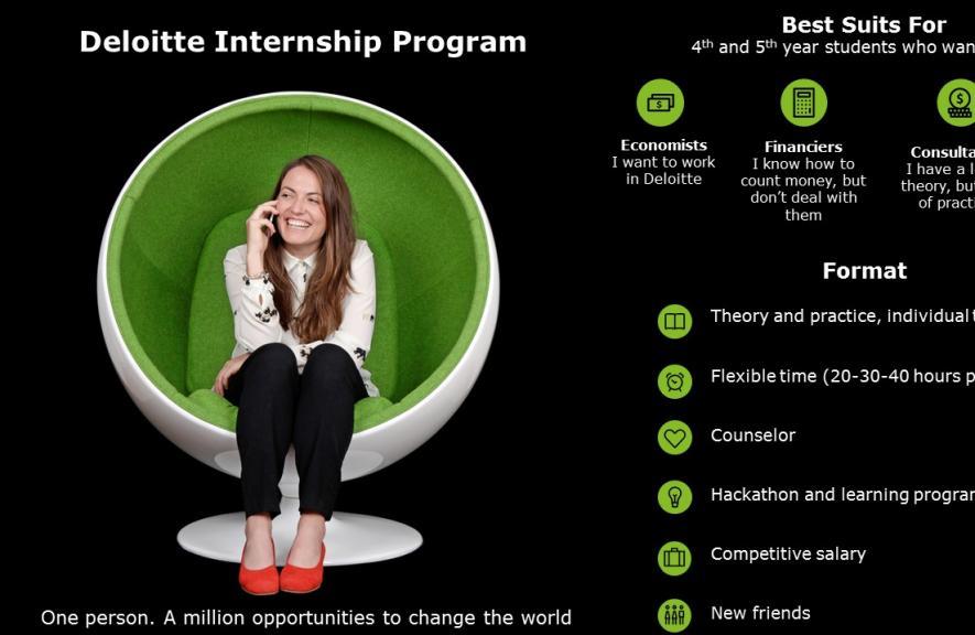Deloitte Summer Internship Program 2018