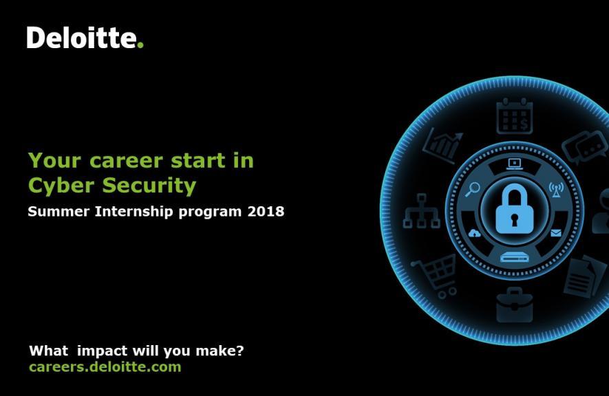 Deloitte Summer Internship Program 2018. Cyber Security