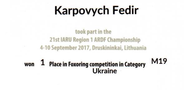 21st IARU Region 1 ARDF Championships, Druskininkai, Lithuani