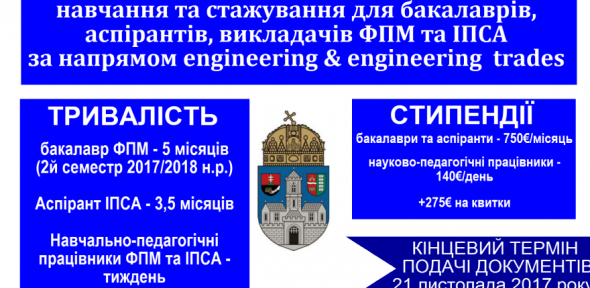 Erasmus + Університет Обуди (Угорщина) 2017