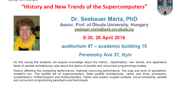 History and New Trends of the Supercomputers. April 2018